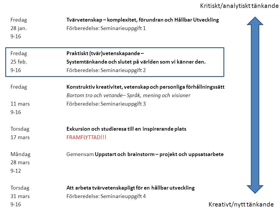 Kritiskt/analytiskt tänkande