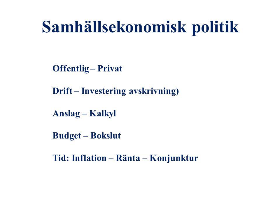 Samhällsekonomisk politik