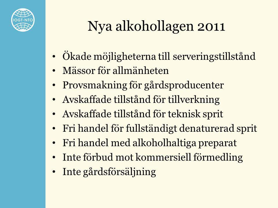 Nya alkohollagen 2011 Ökade möjligheterna till serveringstillstånd