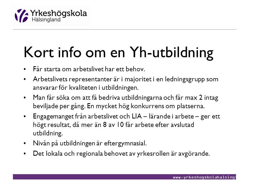 Kort info om en Yh-utbildning