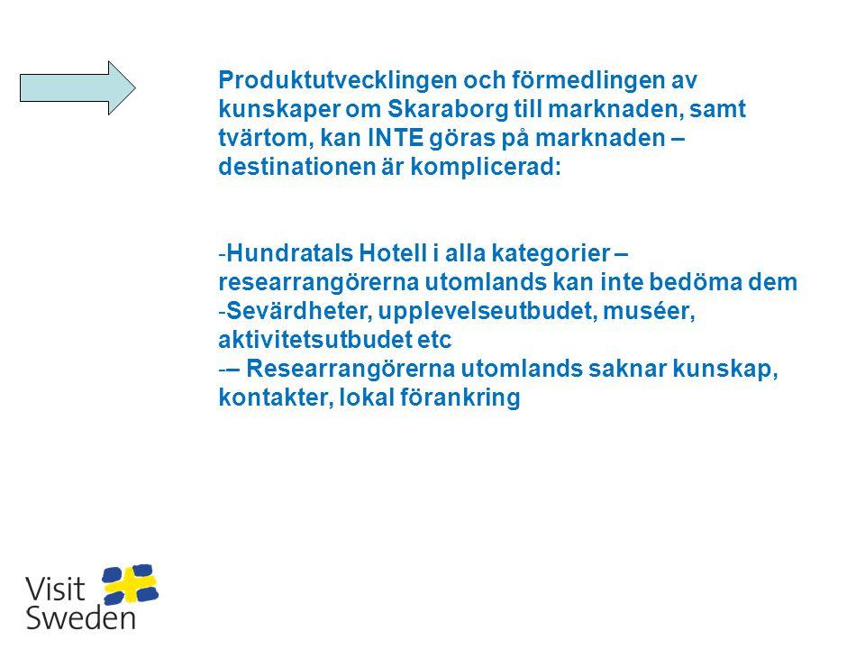 Produktutvecklingen och förmedlingen av kunskaper om Skaraborg till marknaden, samt tvärtom, kan INTE göras på marknaden – destinationen är komplicerad: