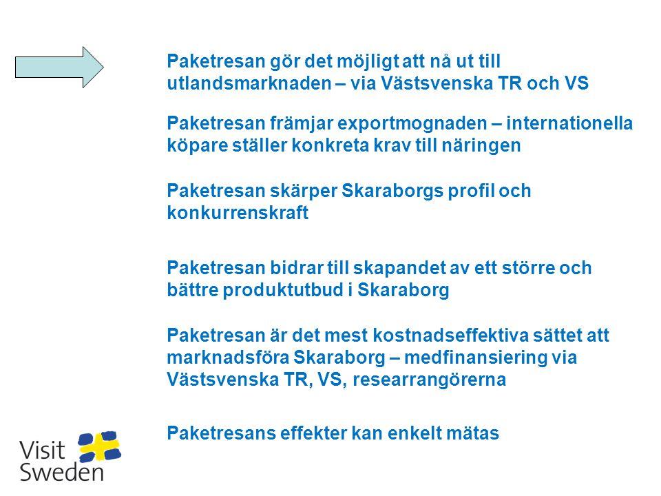 Paketresan gör det möjligt att nå ut till utlandsmarknaden – via Västsvenska TR och VS