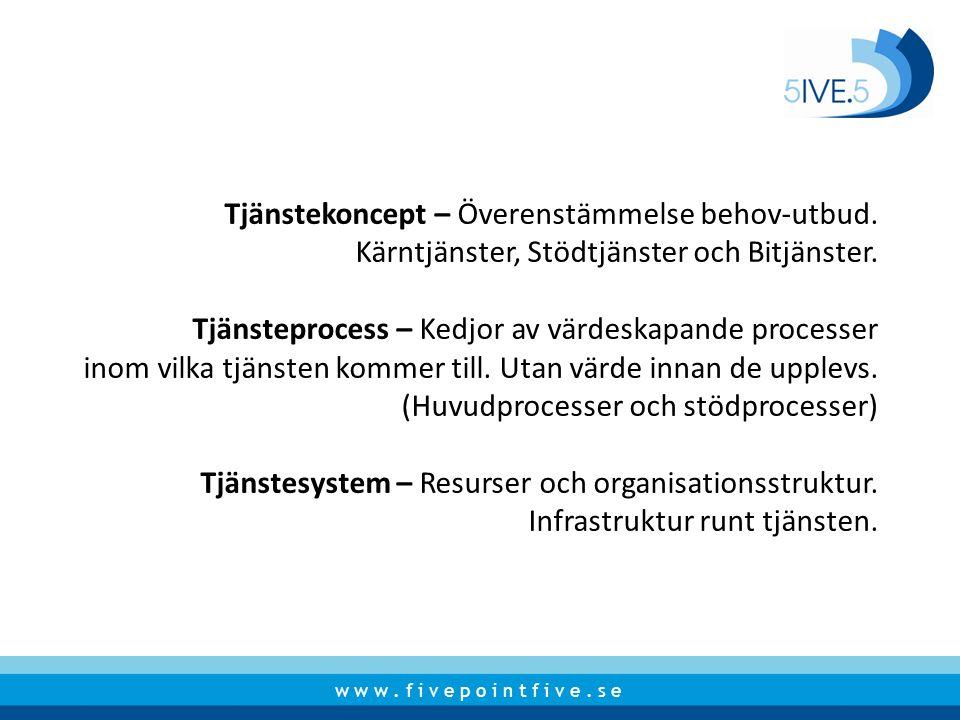 Tjänstekoncept – Överenstämmelse behov-utbud.