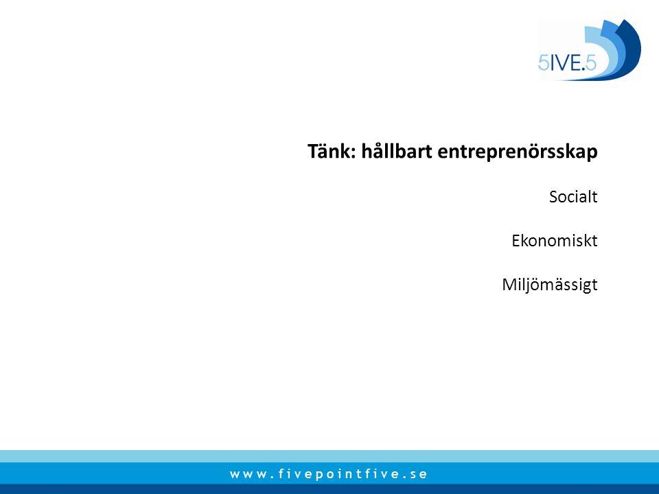 Tänk: hållbart entreprenörsskap