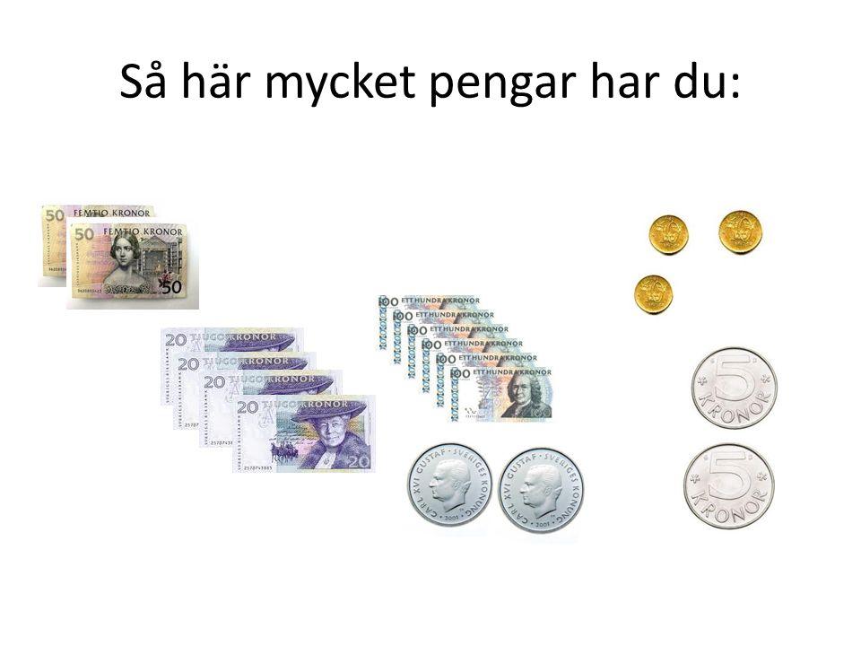 Så här mycket pengar har du: