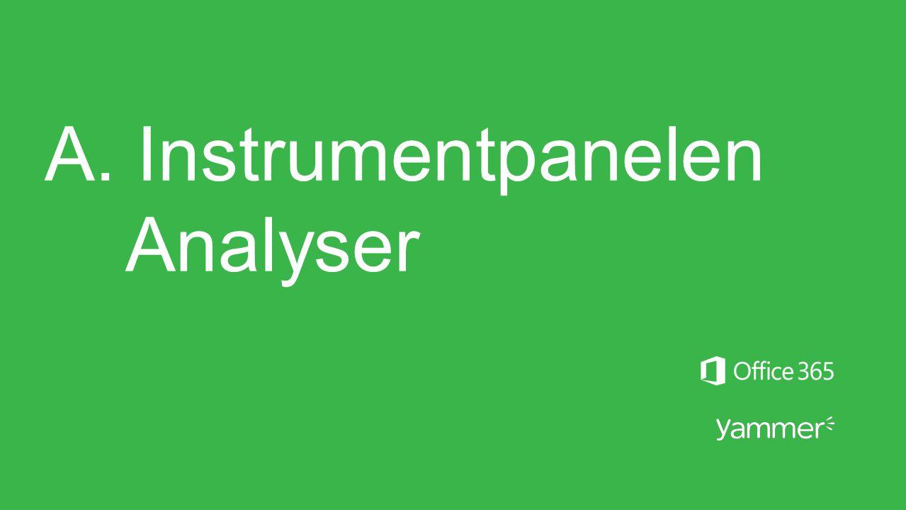 A. Instrumentpanelen Analyser