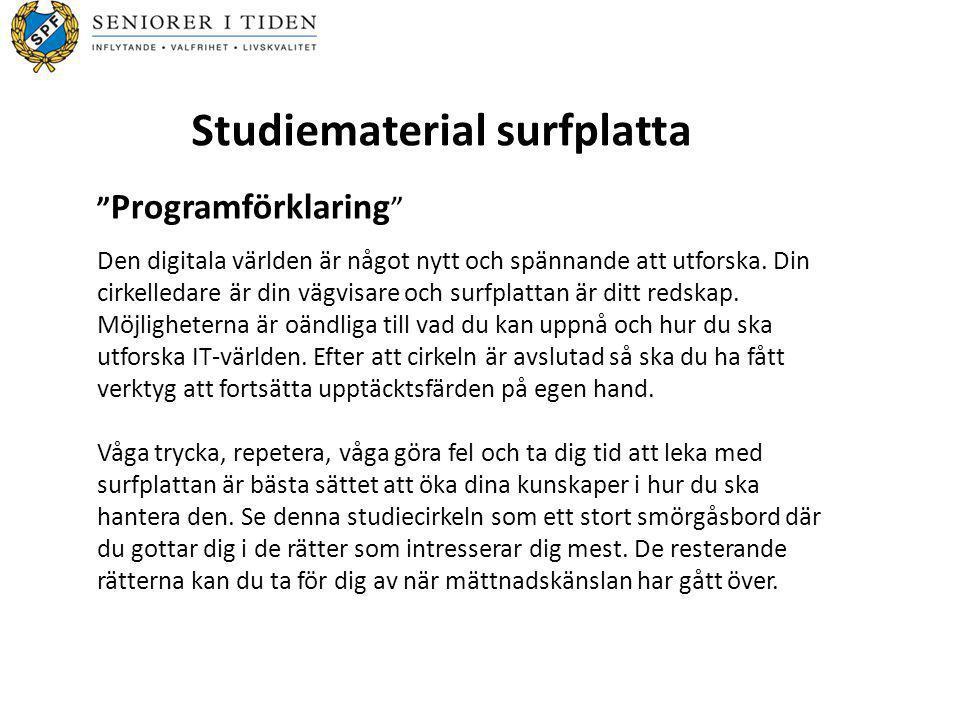 Studiematerial surfplatta