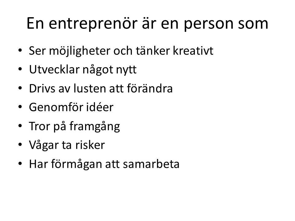 En entreprenör är en person som
