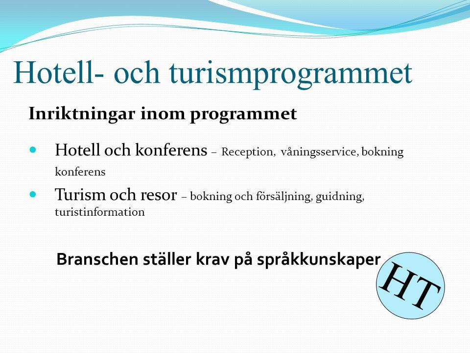 Hotell- och turismprogrammet