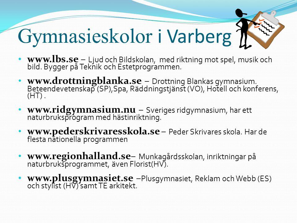 Gymnasieskolor i Varberg