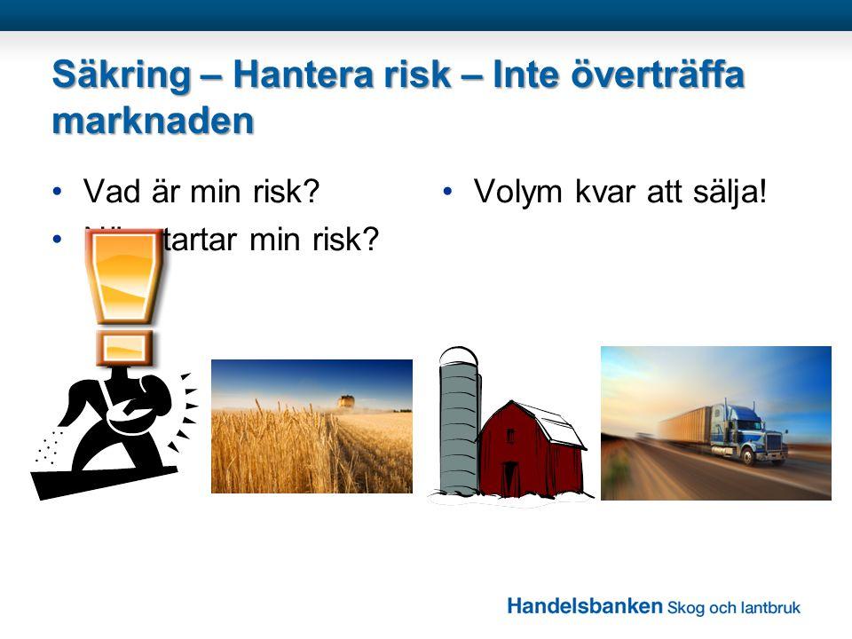 Säkring – Hantera risk – Inte överträffa marknaden