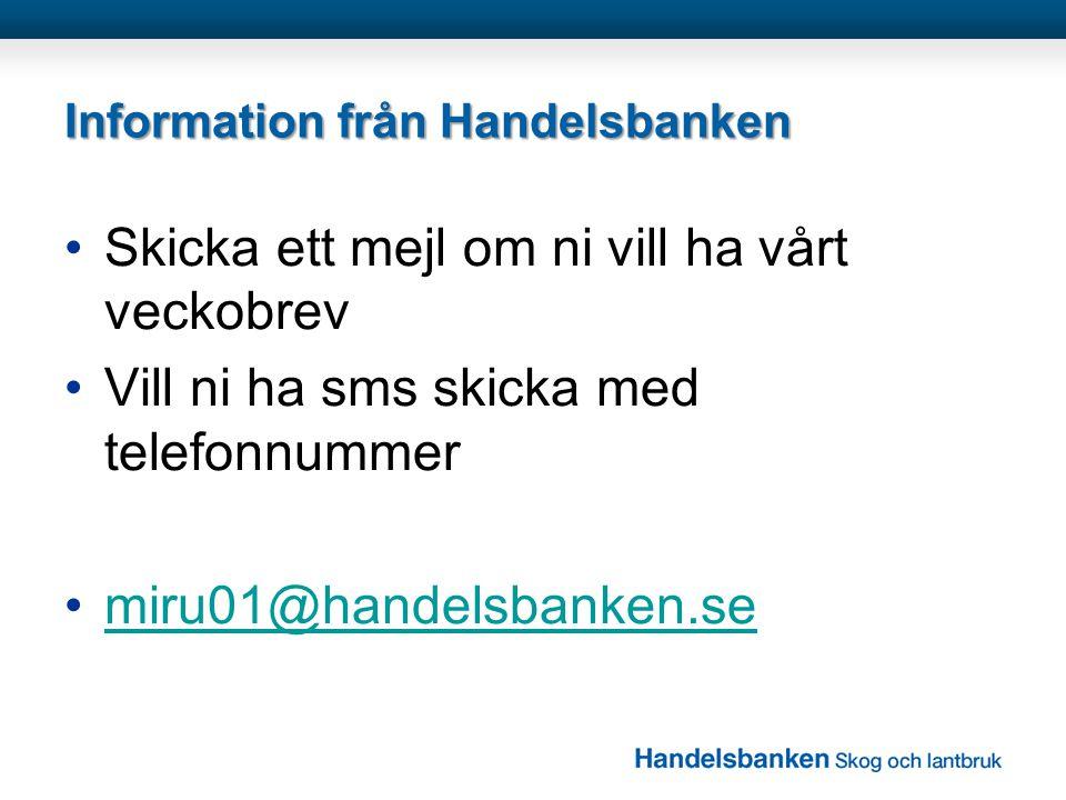 Information från Handelsbanken