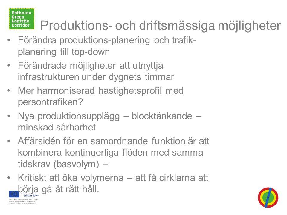 Produktions- och driftsmässiga möjligheter