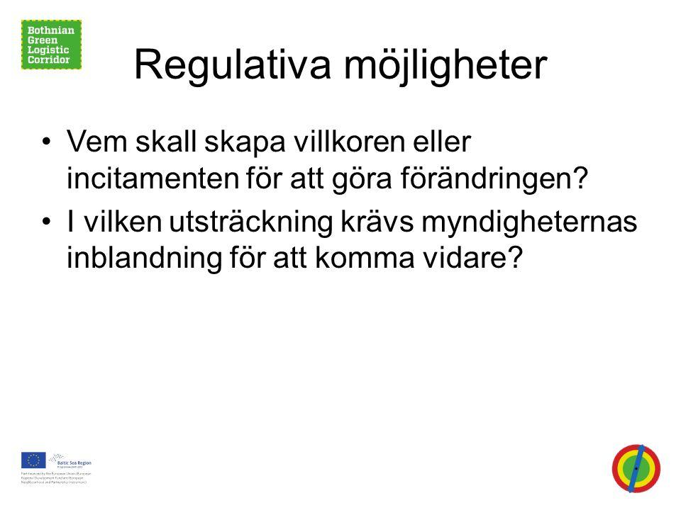 Regulativa möjligheter