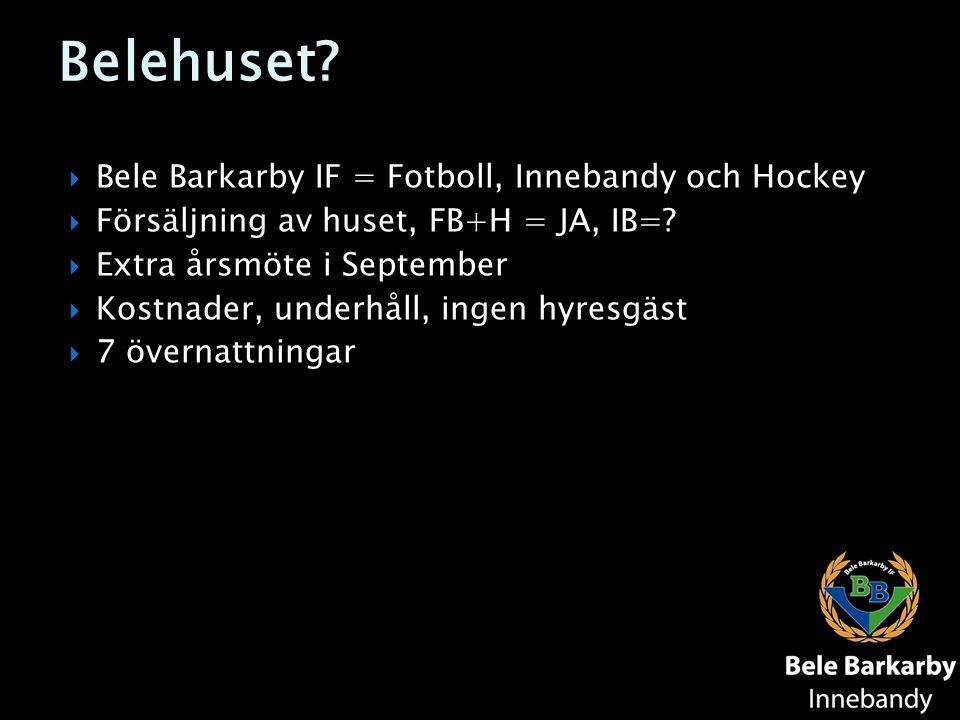 Belehuset Bele Barkarby IF = Fotboll, Innebandy och Hockey