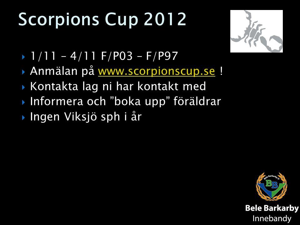 Scorpions Cup 2012 1/11 – 4/11 F/P03 – F/P97
