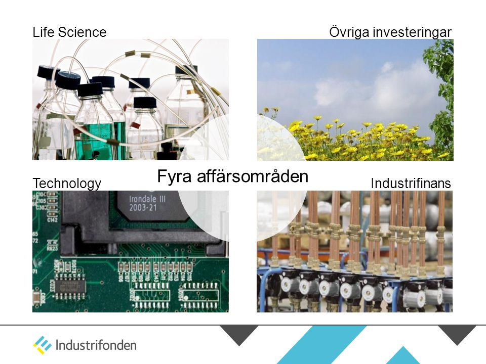 Fyra affärsområden Life Science Övriga investeringar Technology