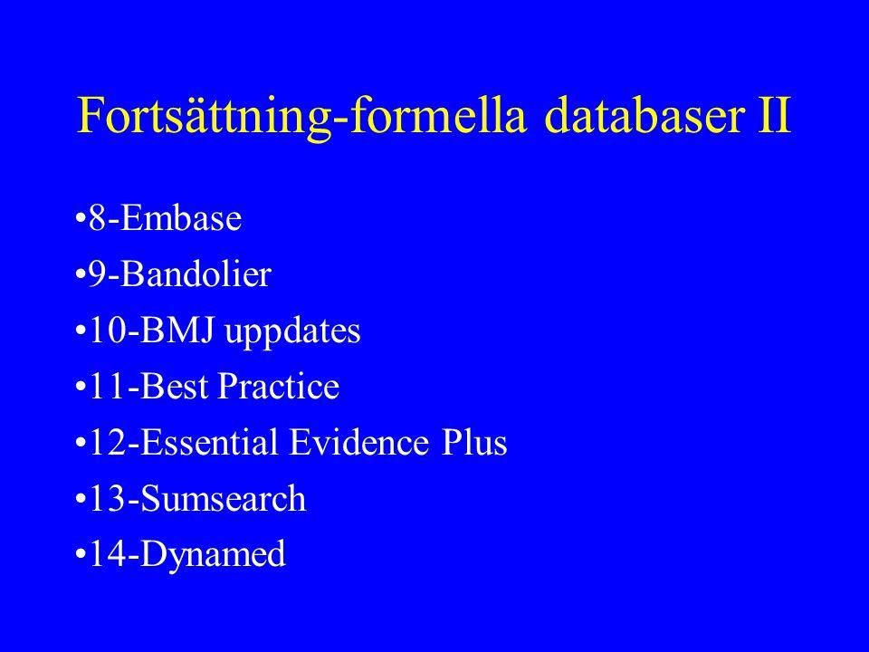 Fortsättning-formella databaser II