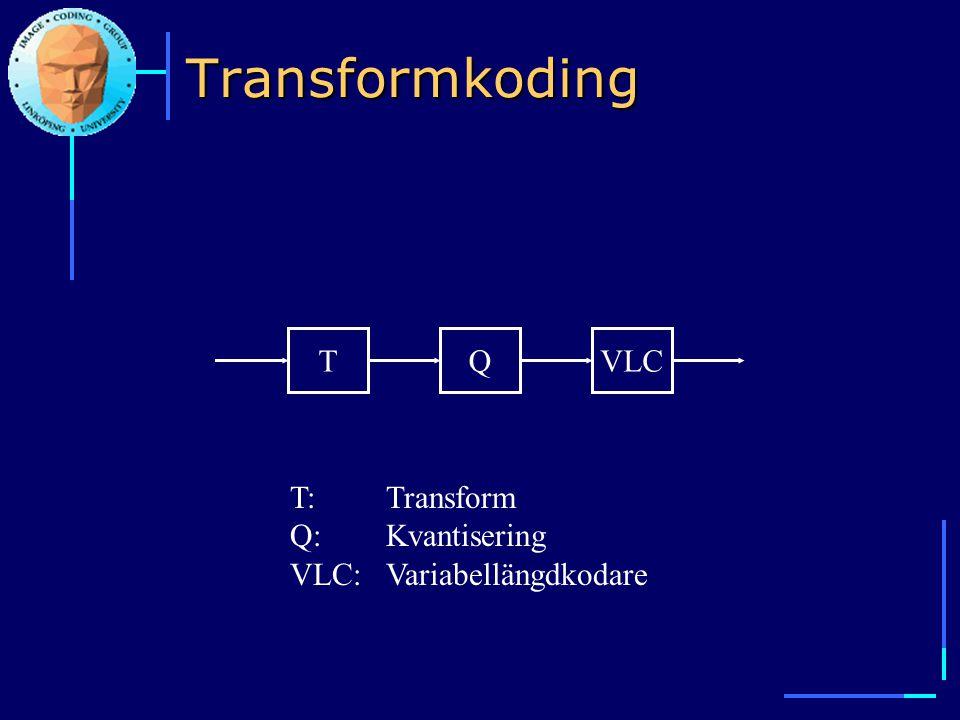 Transformkoding T Q VLC