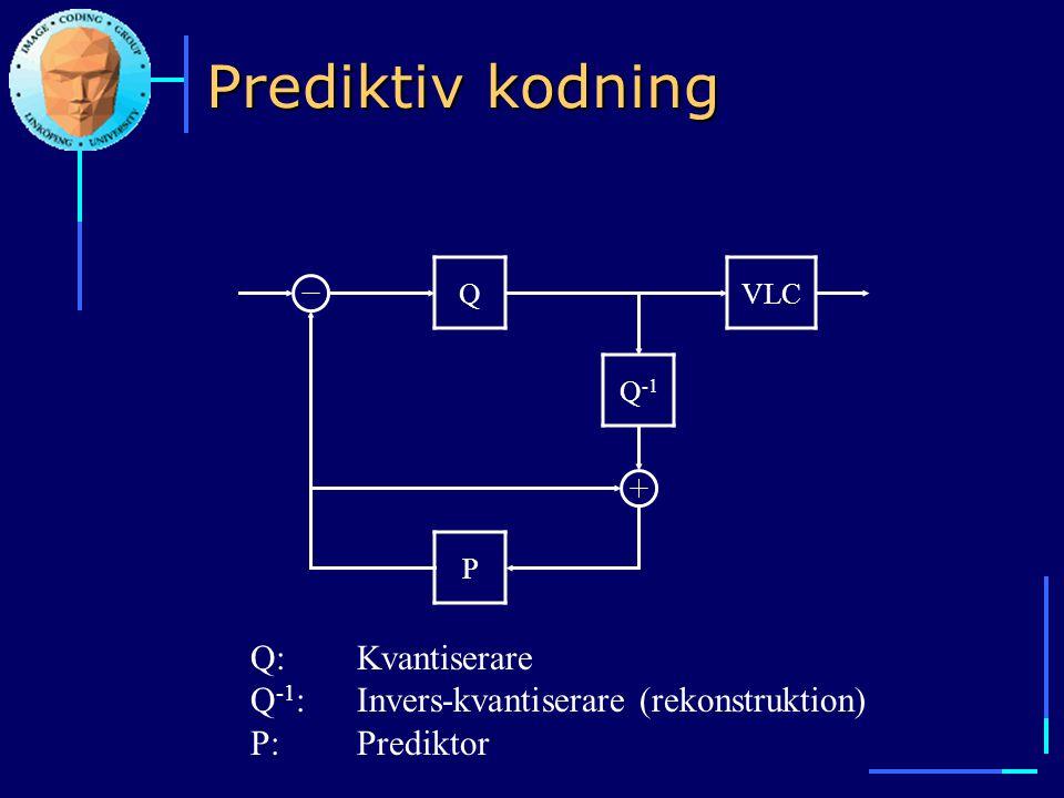 Prediktiv kodning Q. VLC. Q-1. P.