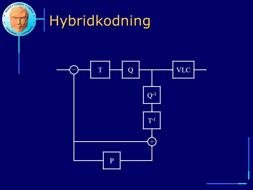 Hybridkodning T Q VLC Q-1 T-1 P