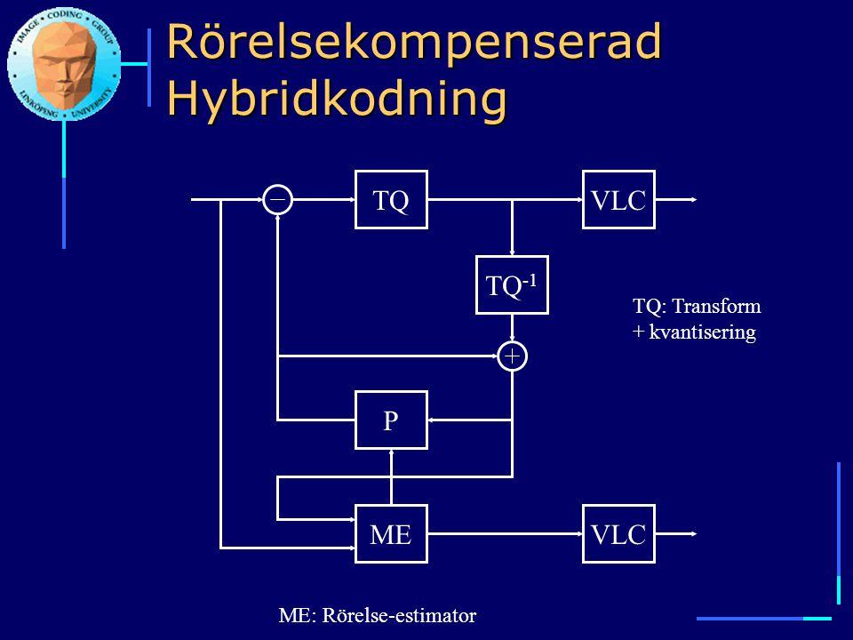 Rörelsekompenserad Hybridkodning