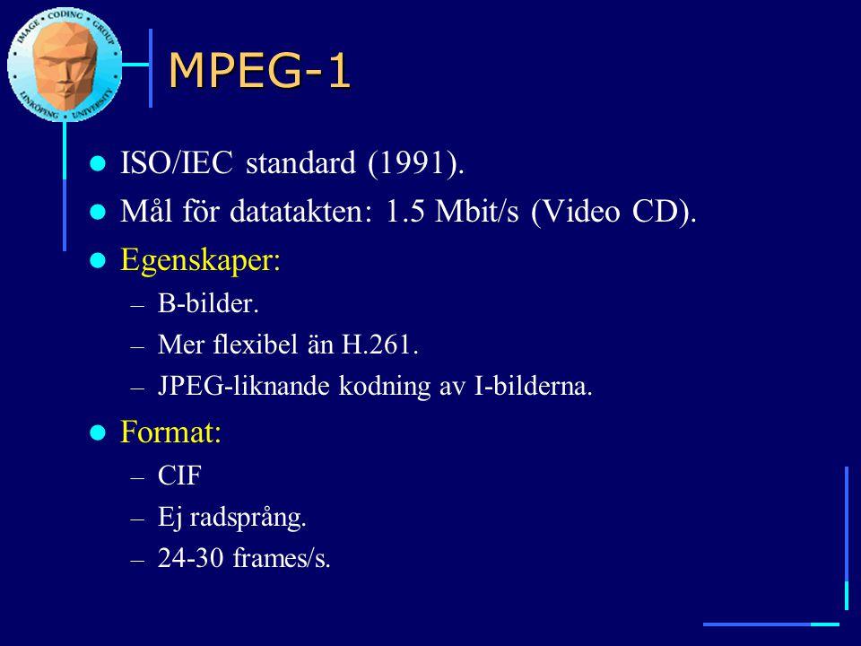 MPEG-1 ISO/IEC standard (1991).