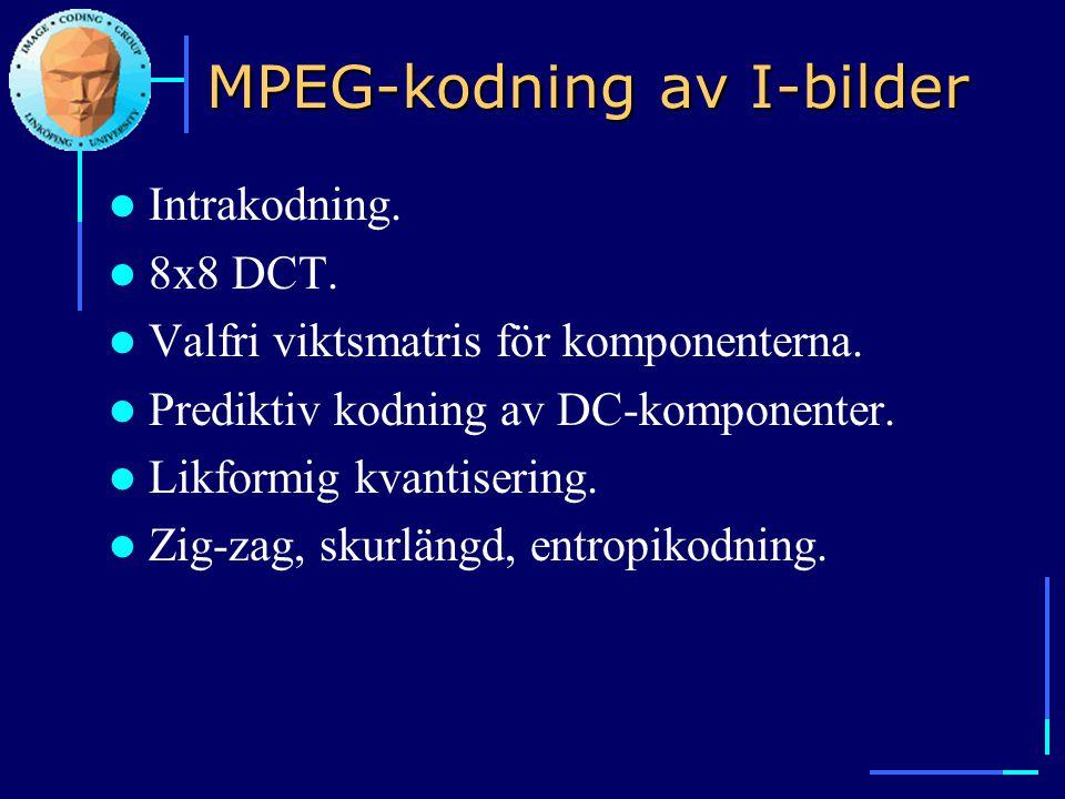 MPEG-kodning av I-bilder