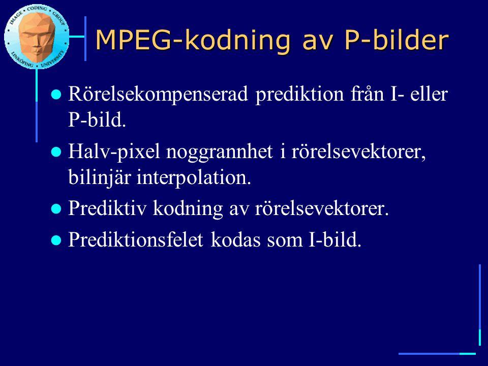MPEG-kodning av P-bilder