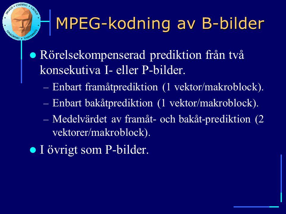 MPEG-kodning av B-bilder