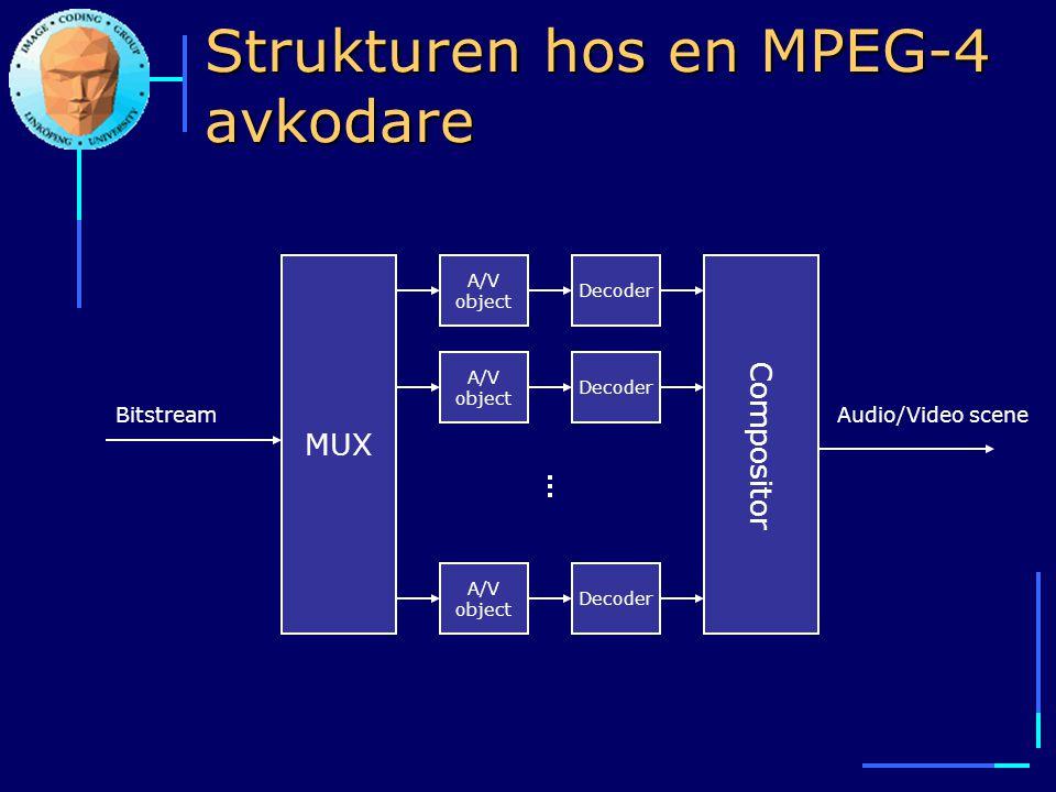 Strukturen hos en MPEG-4 avkodare