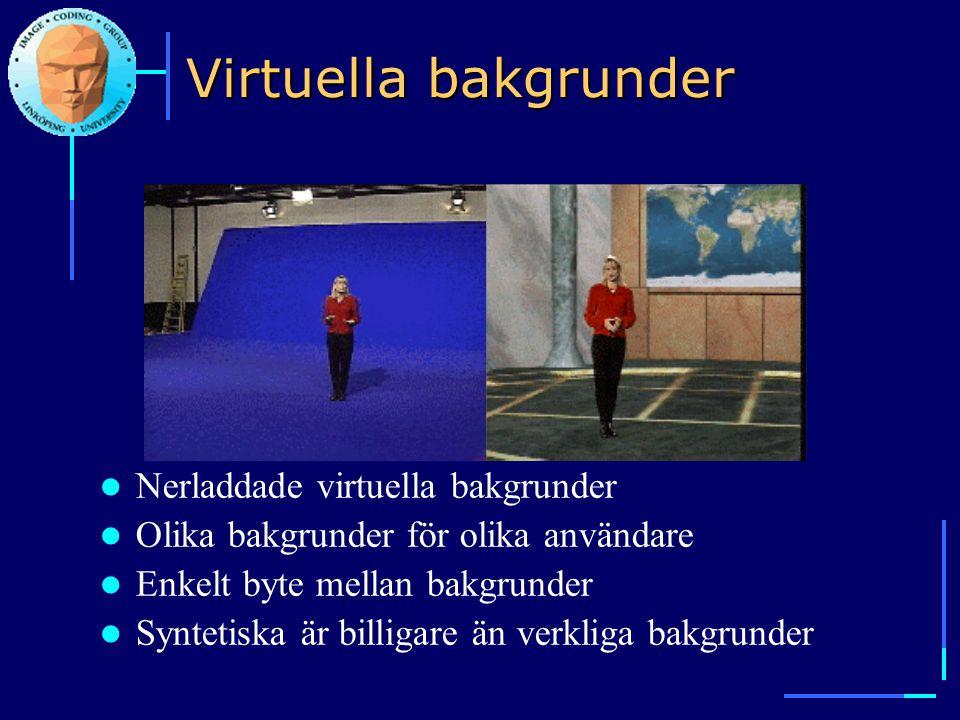 Virtuella bakgrunder Nerladdade virtuella bakgrunder