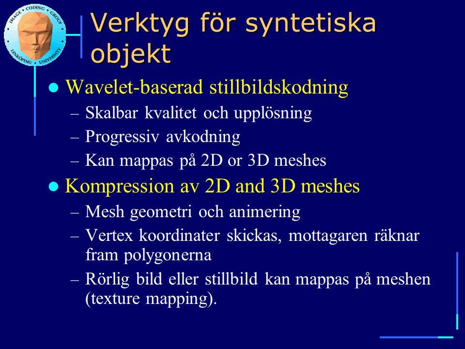Verktyg för syntetiska objekt