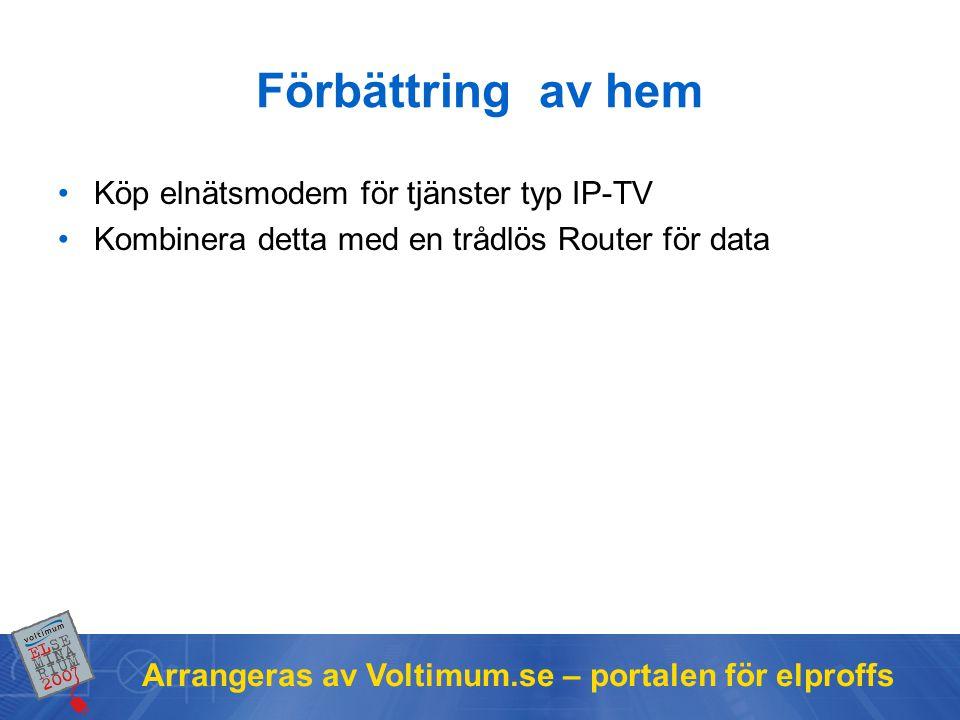 Förbättring av hem Köp elnätsmodem för tjänster typ IP-TV