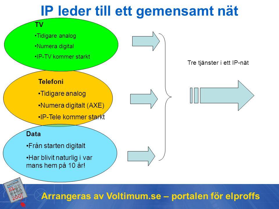 IP leder till ett gemensamt nät