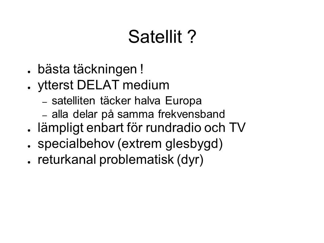 Satellit bästa täckningen ! ytterst DELAT medium