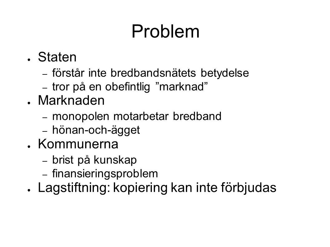 Problem Staten Marknaden Kommunerna