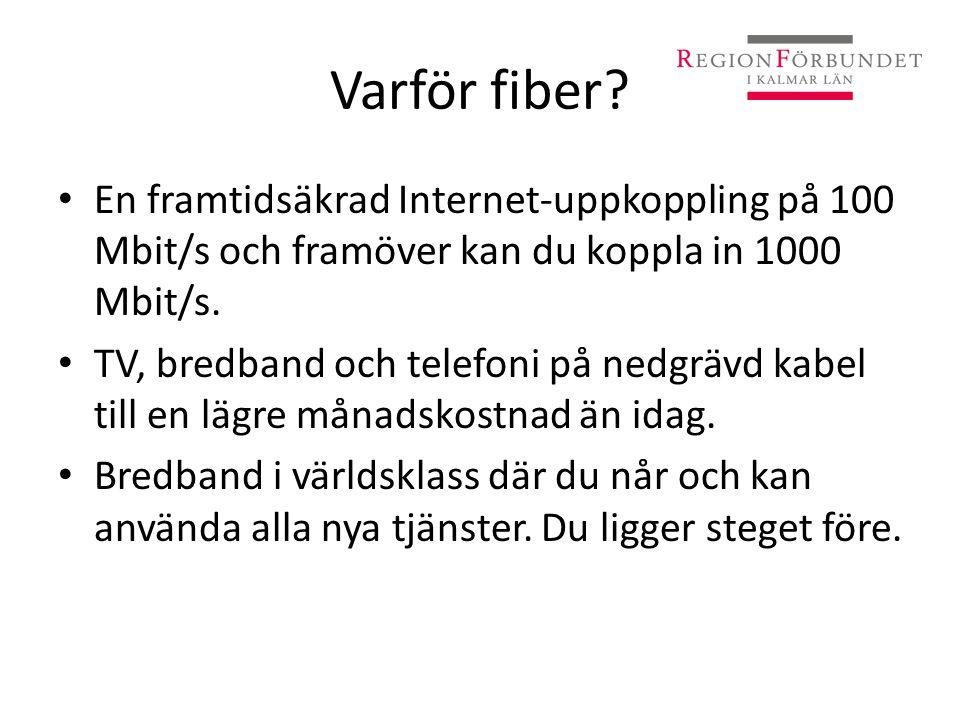 Varför fiber En framtidsäkrad Internet-uppkoppling på 100 Mbit/s och framöver kan du koppla in 1000 Mbit/s.