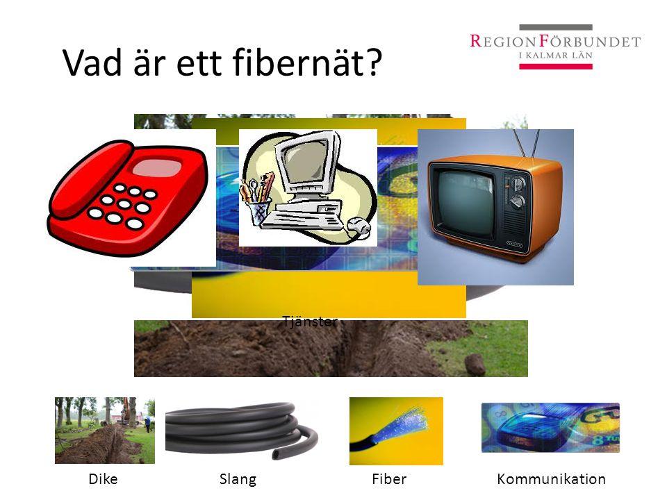 Vad är ett fibernät Tjänster Dike Slang Fiber Kommunikation