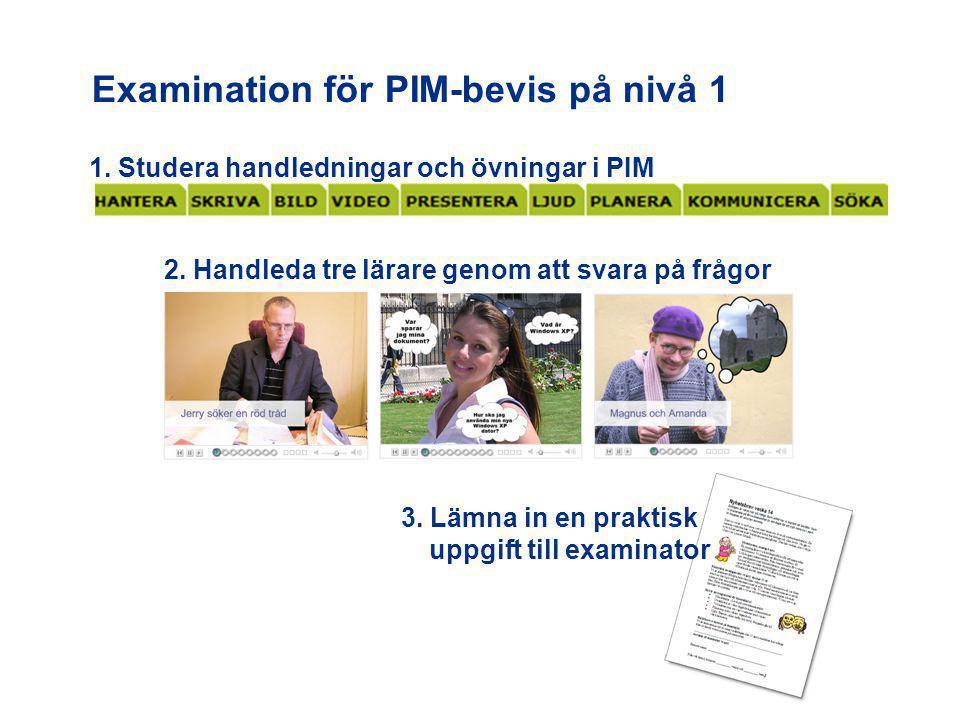 Examination för PIM-bevis på nivå 1