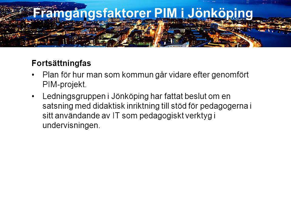 Framgångsfaktorer PIM i Jönköping