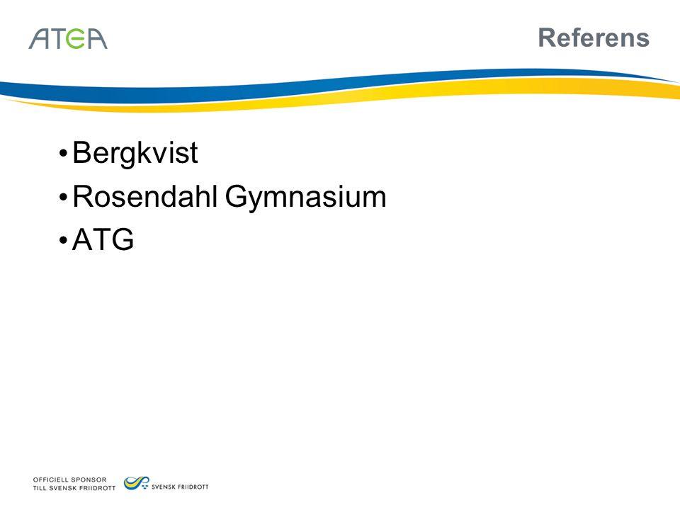 Referens Bergkvist Rosendahl Gymnasium ATG