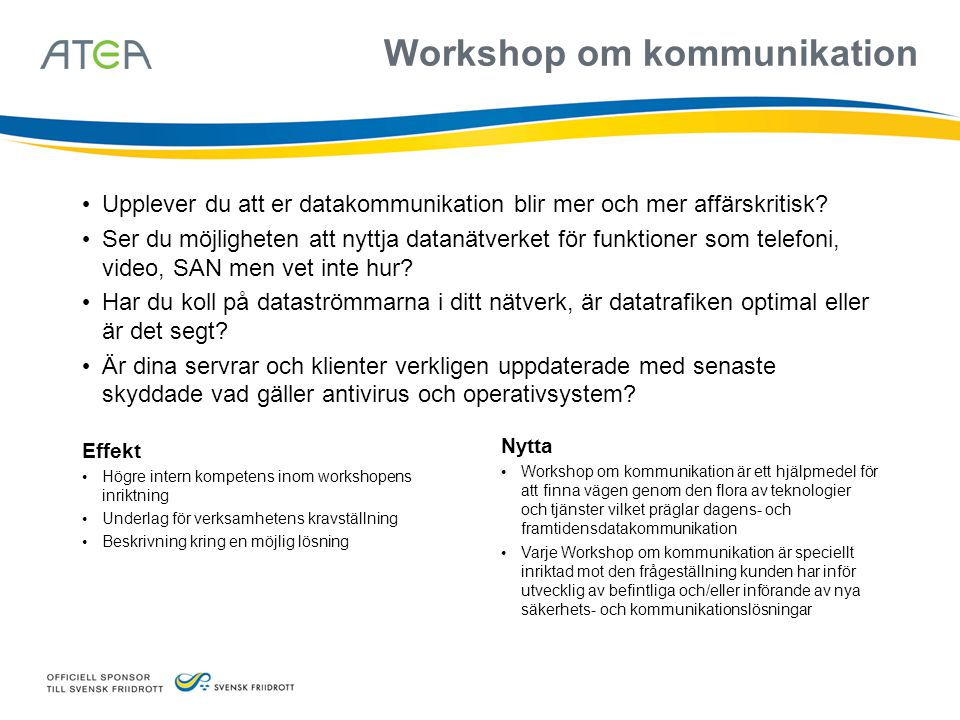 Workshop om kommunikation