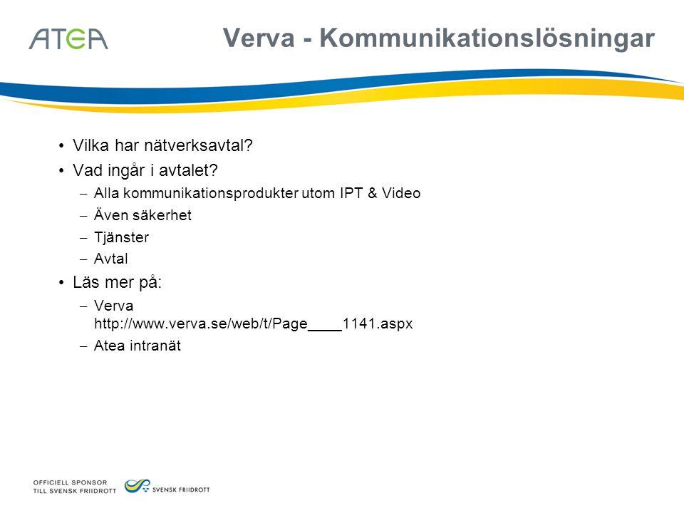 Verva - Kommunikationslösningar