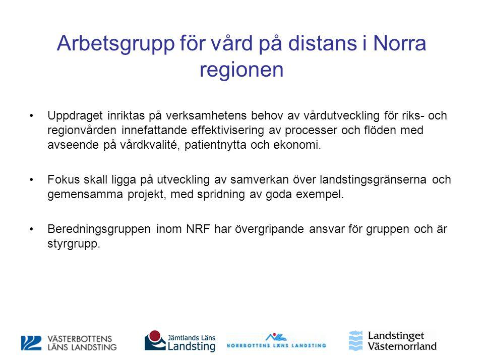 Arbetsgrupp för vård på distans i Norra regionen