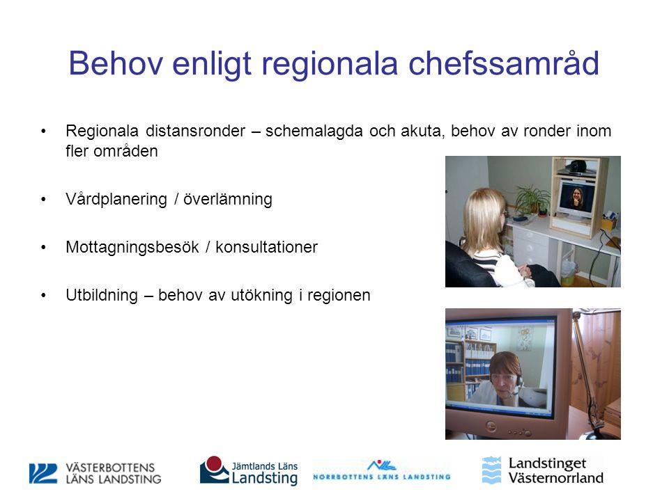 Behov enligt regionala chefssamråd