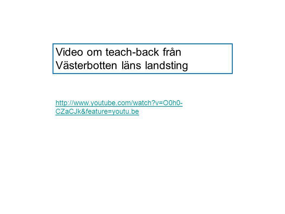 Video om teach-back från Västerbotten läns landsting