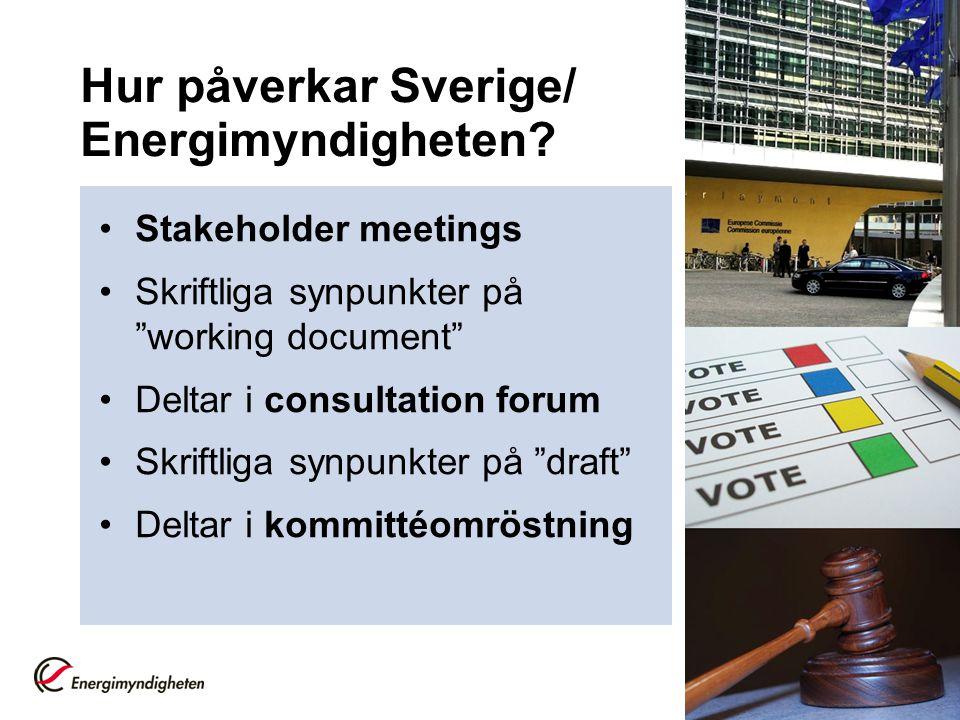 Hur påverkar Sverige/ Energimyndigheten