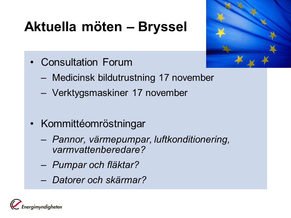 Aktuella möten – Bryssel