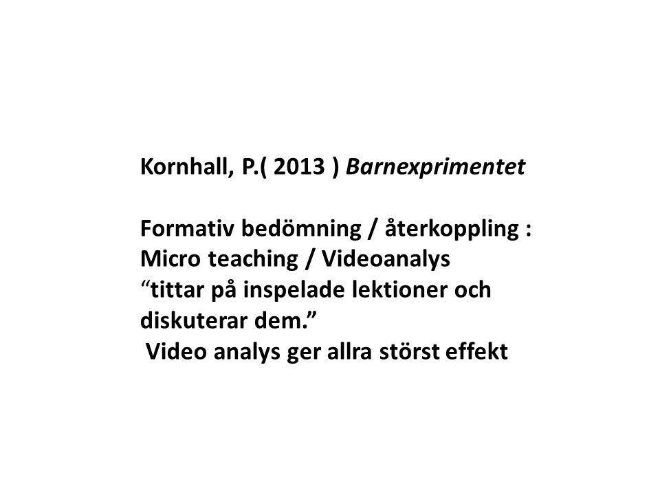 Kornhall, P.( 2013 ) Barnexprimentet